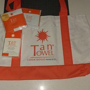 Tan Towels & Tote